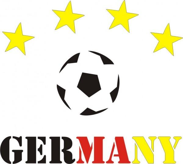 Selbstklebe Schablonen Set 4 Sterne Deutschland