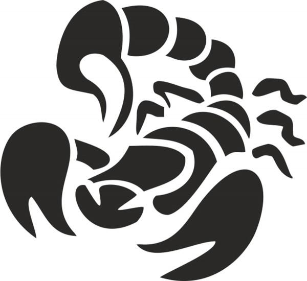 Selbstklebe Schablone - Skorpion II