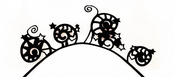 Papier-Wimpern, Nautilus - schwarz