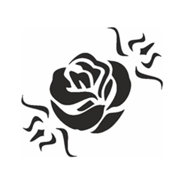 Selbstklebe Schablone - Rosenblüte