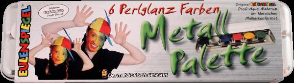 6 Perlglanz-Farben Metall-Palette