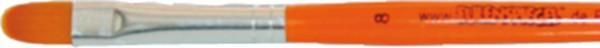 Pinsel (Katzenzunge), Gr. 8, gelb-orange