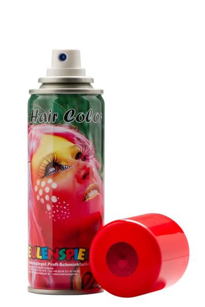 Glitzer Haarspray Rot