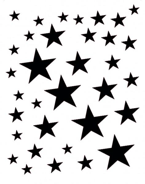 Facepainting Schablone Stardance