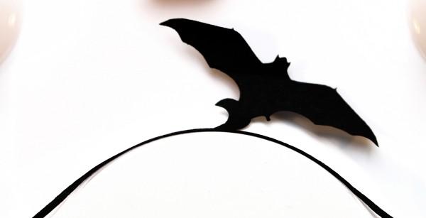 Papier-Wimpern, Fledermaus - schwarz