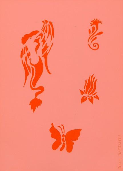 Tattoo Schablone - Siren