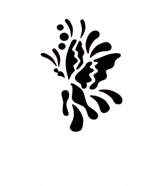 Eye-Design Schablone Butterfly