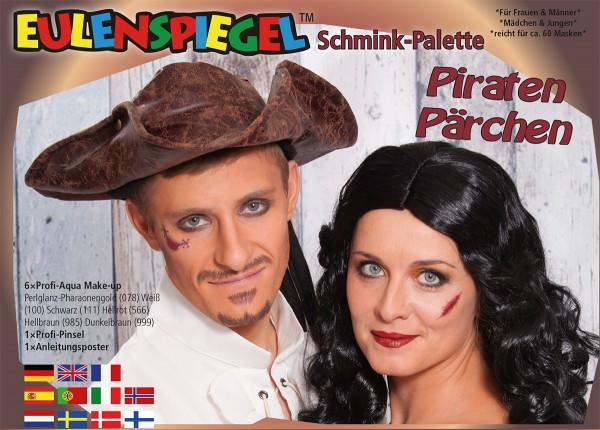 PiratenPärchen - Schminkpalette mit Anleitung