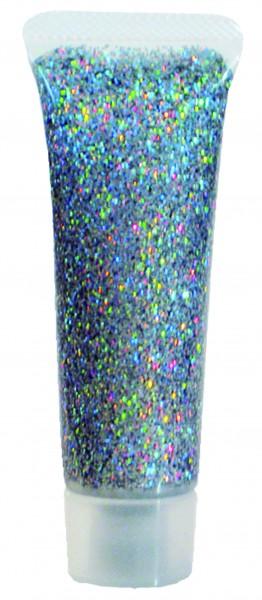 Glitzer-Gel Silber-Juwel, 18ml