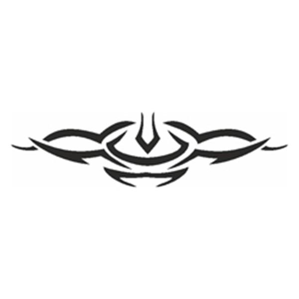 Selbstklebe Schablone - Symmetric Tribal
