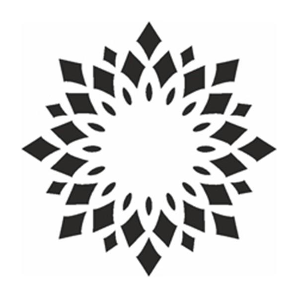 Selbstklebe Schablone - Kaleidoskop