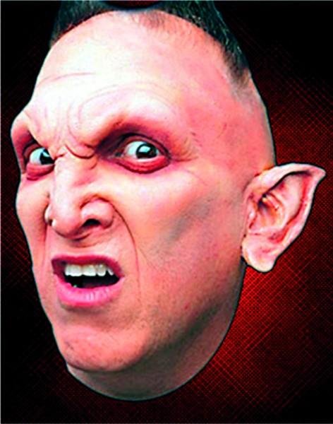 Latex Maske Dämonohren