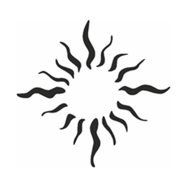 Selbstklebe Schablone - Sonnenflammen