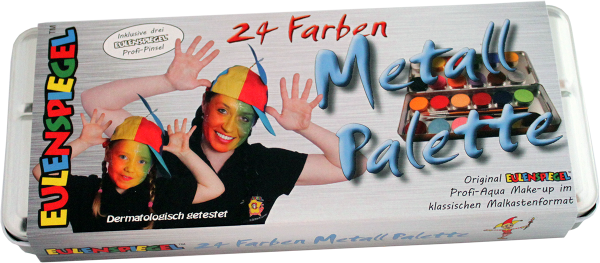 24 Farben Metall-Palette
