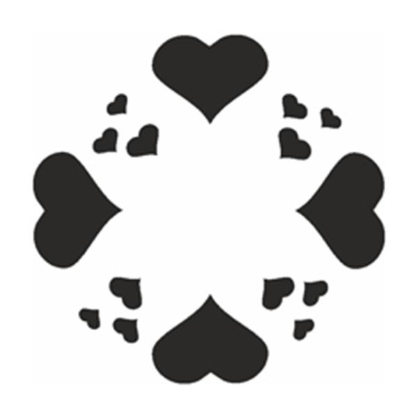 Selbstklebe Schablone - Herzenkreis