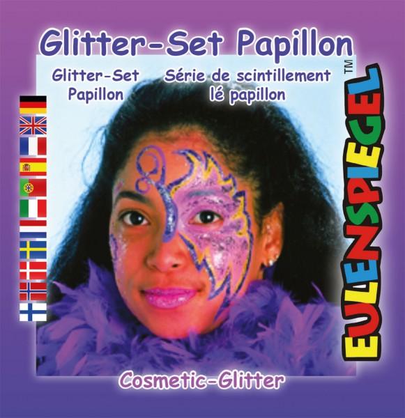 Glitzer Set Papillon