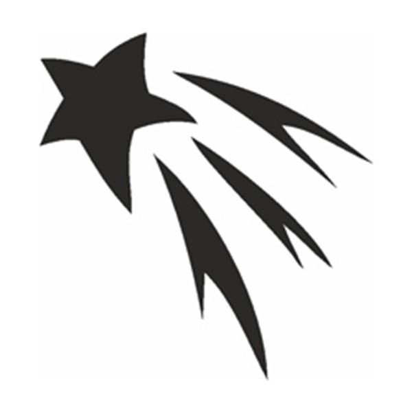 Selbstklebe Schablone - Shooting Star