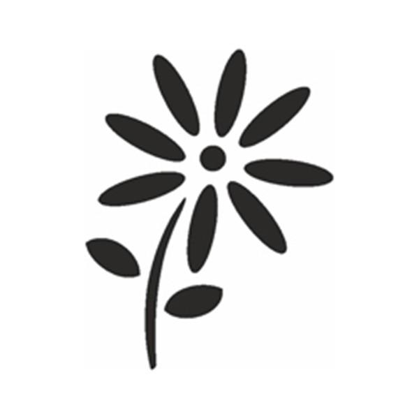 Selbstklebe Schablone - Gänseblümchen