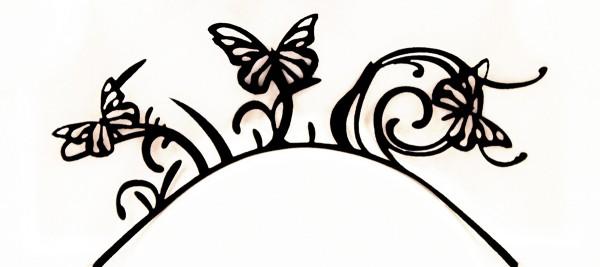 Papier-Wimpern, Butterfly - schwarz