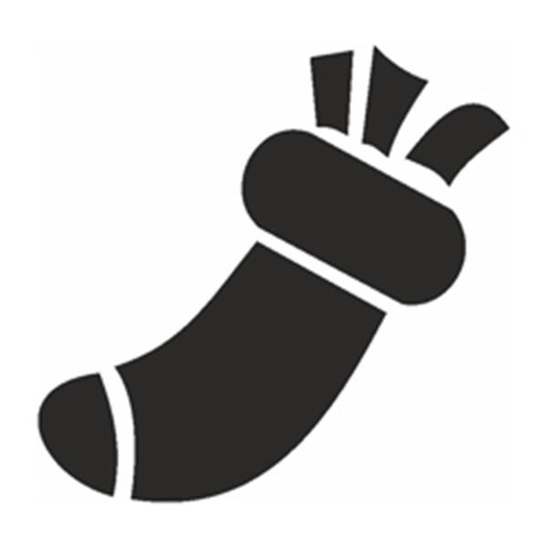Selbstklebe Schablone - Socke