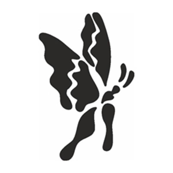 Selbstklebe Schablone - Fl. Schmetterling