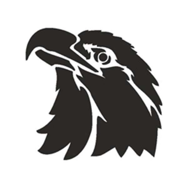 Selbstklebe Schablone - Adlerkopf