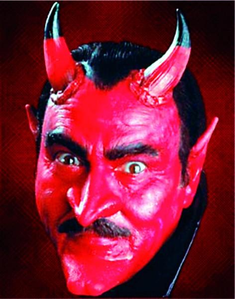 Latex-Maske Teufelshörner, groß