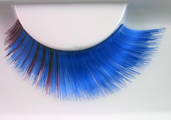 Wimpern, Blau/Lila