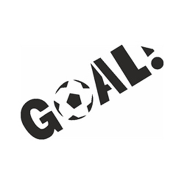Selbstklebe Schablone - Goal