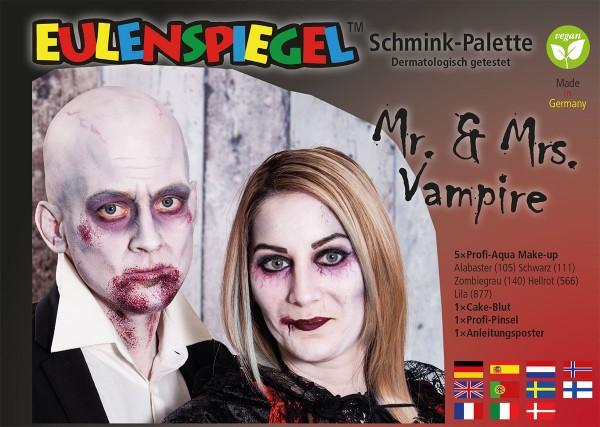 Mr.& Mrs. Vampire - Schminkpalette mit Anleitung