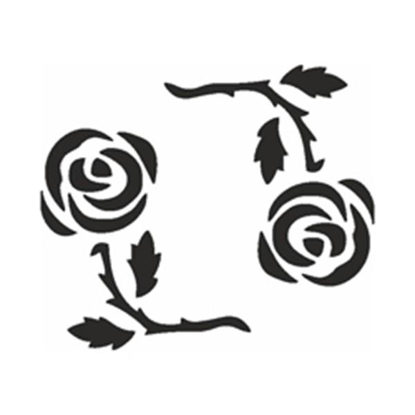 Selbstklebe Schablone - Rosenkreis