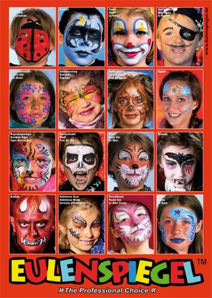Poster mit 16 Masken