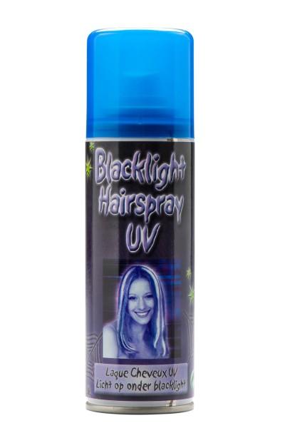 UV-Haarspray, leuchtet im Schwarzlicht