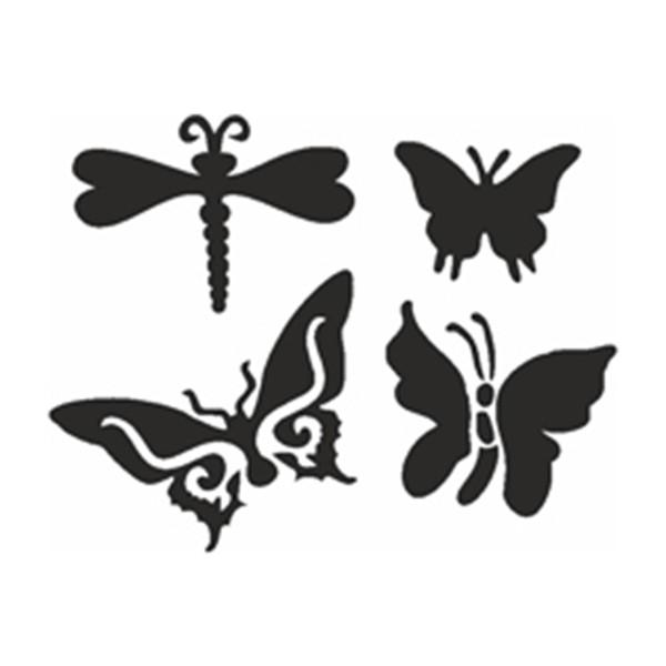 Selbstklebe-Schablonen Set Butterfly