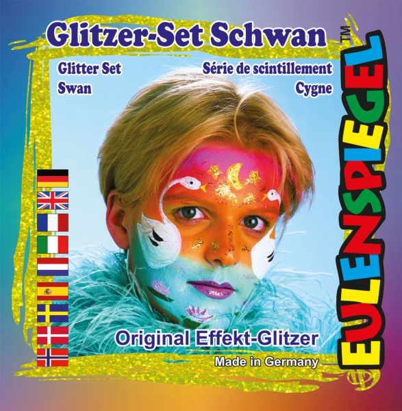 Glitzer Set Schwan