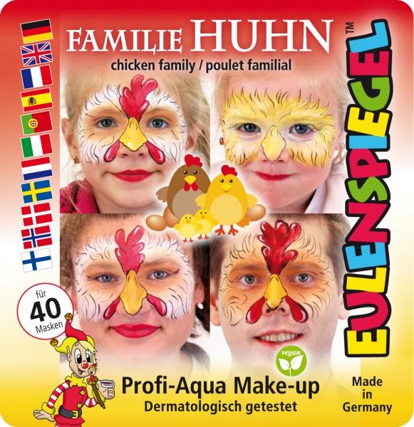 Motiv-Set Familie Huhn