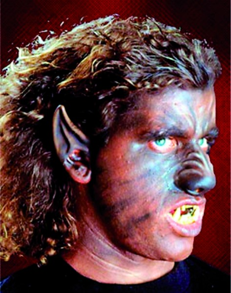 Latex-Maske Werwolfsohren