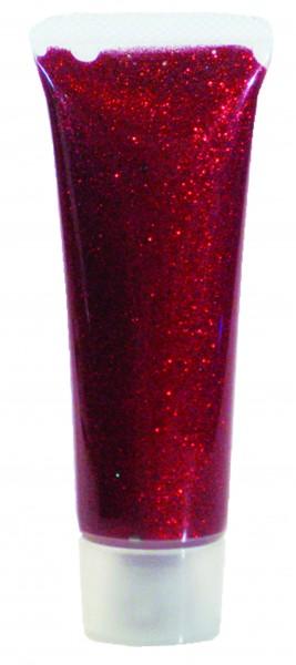 Glitzer-Gel Rot-Juwel, 18ml