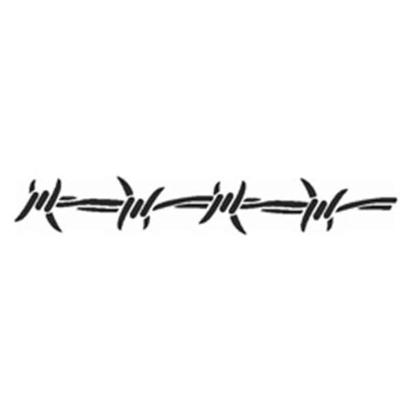 Selbstklebe Schablone - Stacheldraht-Band