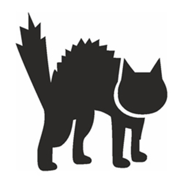Selbstklebe Schablone - Katze