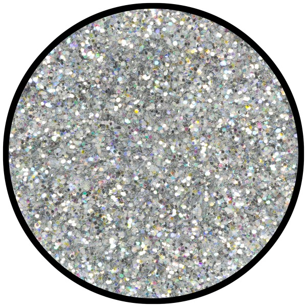 Silber-Juwel (mittel), hologr. 2g Glitzer
