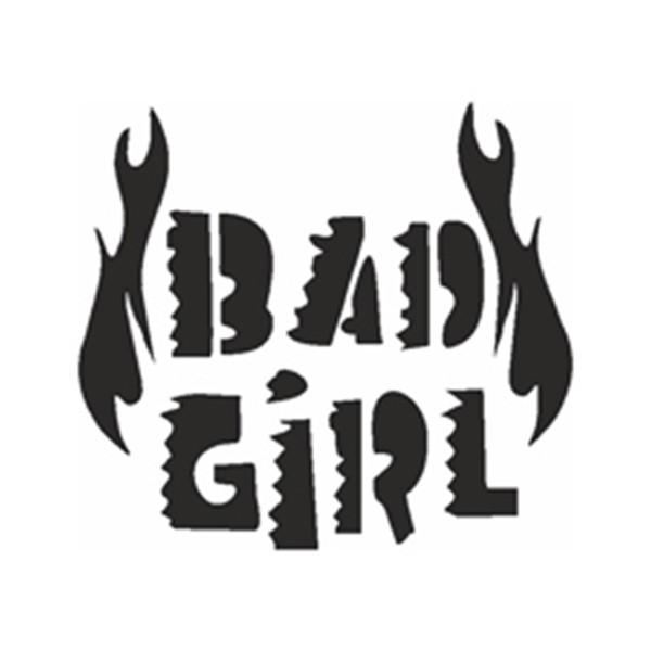 Selbstklebe Schablone - Bad Girl