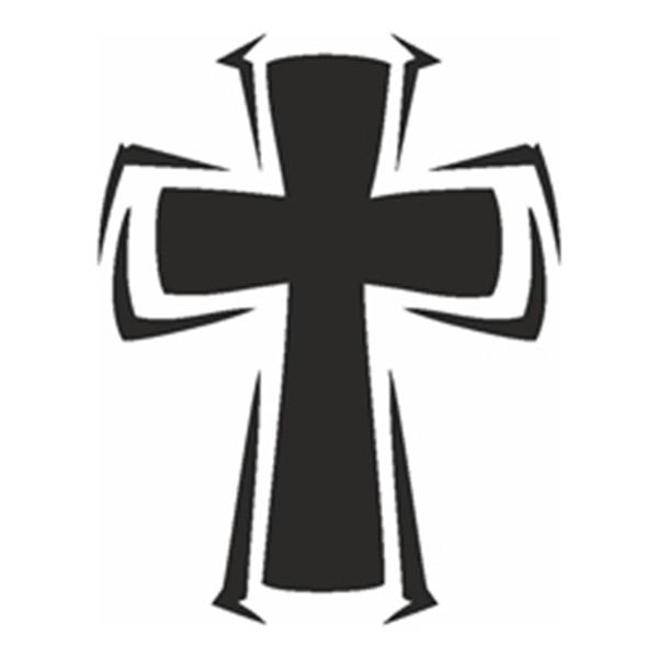 Selbstklebe Schablone - Kreuz I