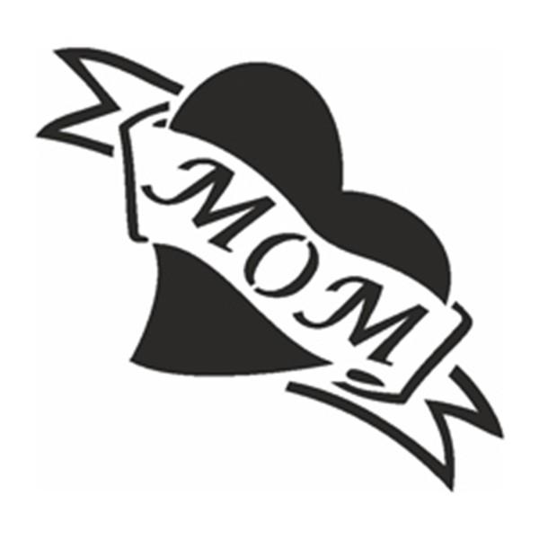 Selbstklebe Schablone - Mom