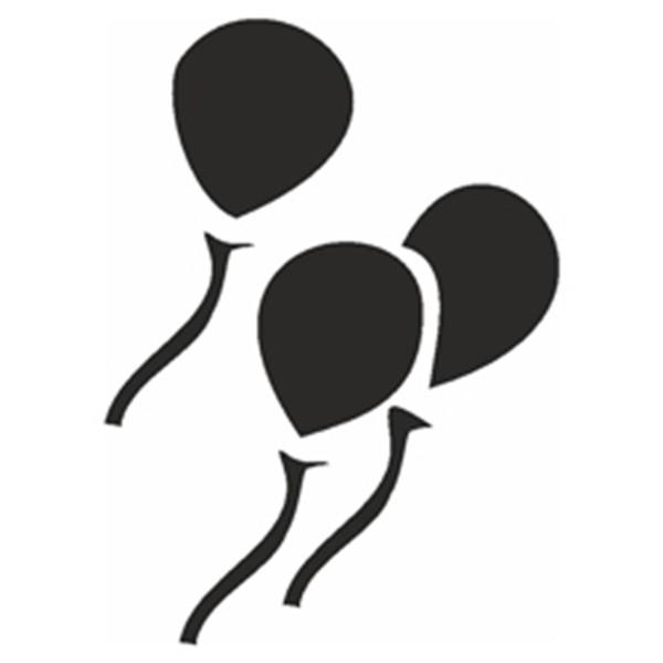 Selbstklebe Schablone - Luftballons