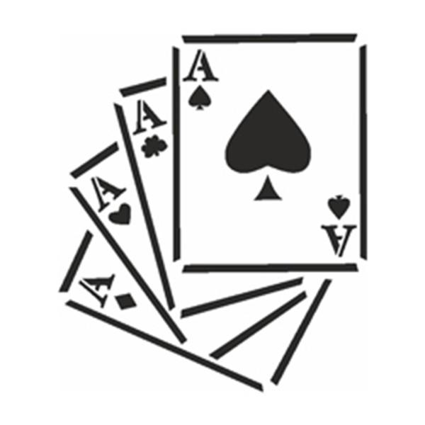 Selbstklebe Schablone - Vier Asse