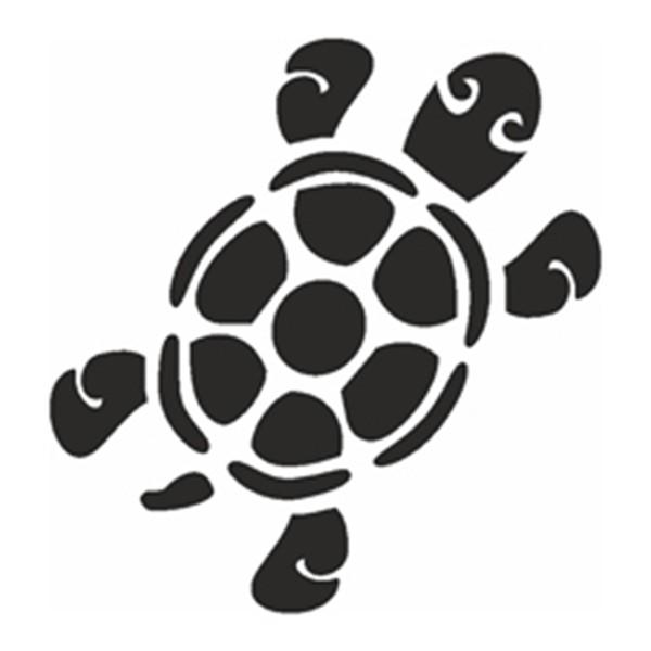 Selbstklebe Schablone - Schildkröte