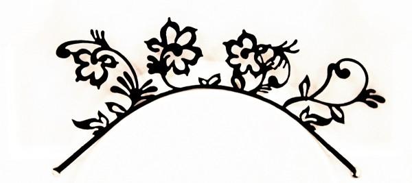 Papier-Wimpern, Flowers - schwarz