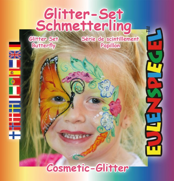 Glitzer Set Schmetterling