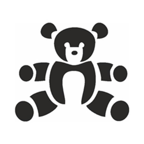 Selbstklebe Schablone - Teddy